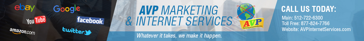AVP Marketing and Internet Services – EBay Services of Texas logo